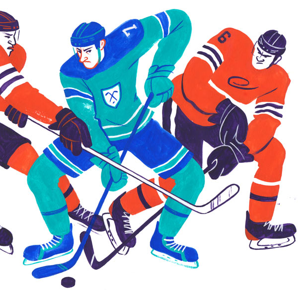 Sport hockey illustrations