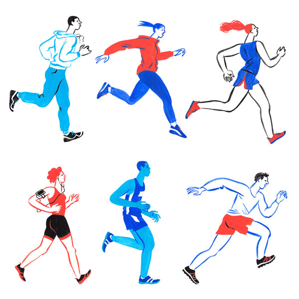 Magazine running illustration