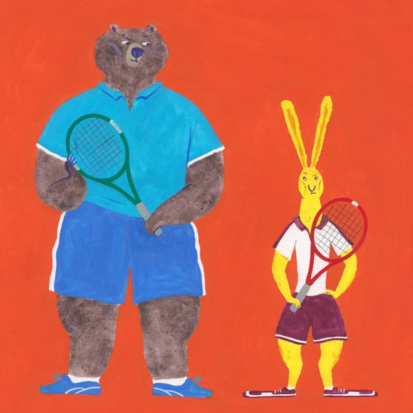 Picture book illustration tennis
